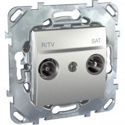 Розетка R-TV/SAT проходная Schneider Electric Unica MGU5.456.30ZD