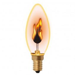 Лампа декоративная (UL-00002981) E14 3W золотистая IL-N-C35-3/RED-FLAME/E14/CL