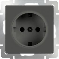 Розетка с заземлением серо-коричневая WL07-SKG-01-IP20 4690389054051