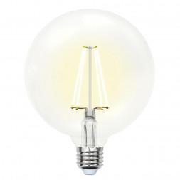 Лампа светодиодная филаментная (10534) E27 10W 3000K прозрачная LED-G125-10W/WW/E27/CL PLS02WH