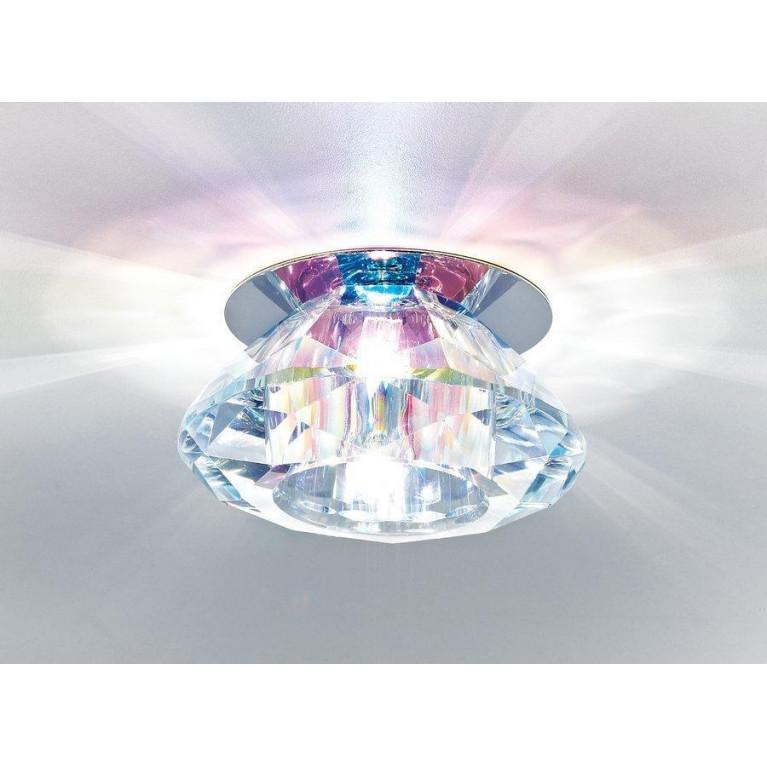 Встраиваемый светильник Ambrella light Crystal D8016 Multi/CH