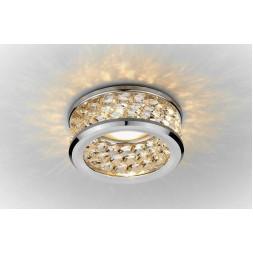 Встраиваемый светильник Ambrella light Crystal K105/3 CL/CH