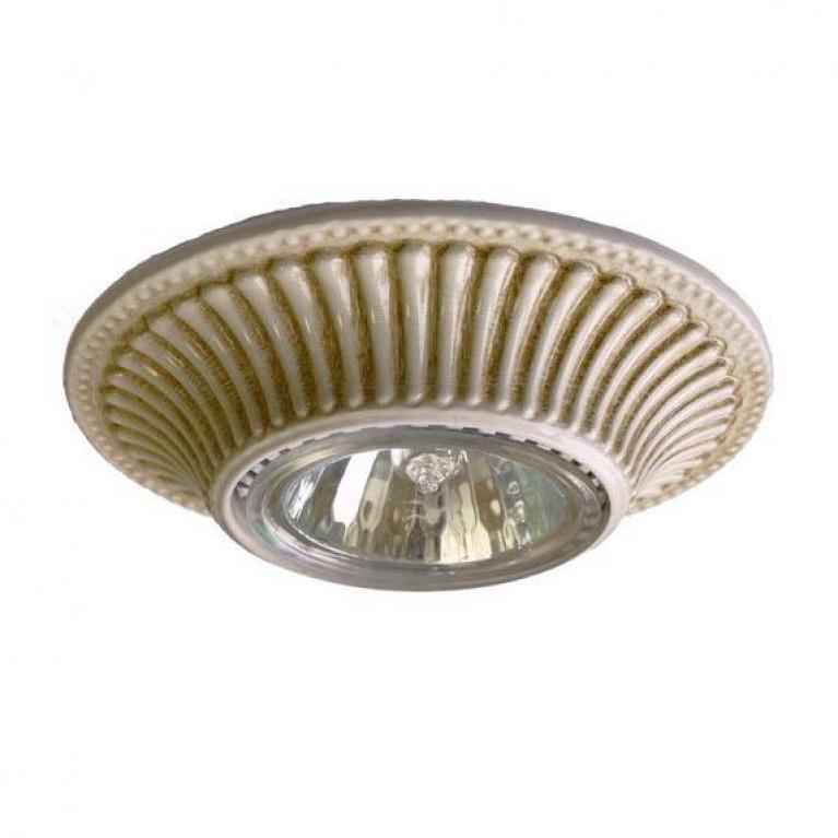 Встраиваемый светильник Reccagni Angelo SPOT 1078 bianco antico