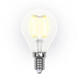 Лампа светодиодная (UL-00000303) E14 6W 3000K матовая LED-G45-6W/WW/E14/FR PLS02WH