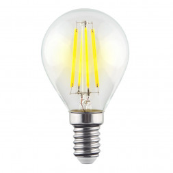 Лампа светодиодная филаментная E14 9W 4000К прозрачная VG10-G1E14cold9W-F 7099