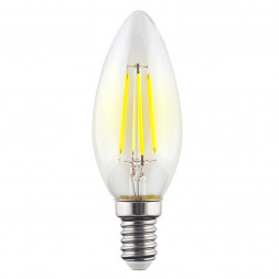 Лампа светодиодная филаментная E14 9W 4000К прозрачная VG10-C1E14cold9W-F 7097