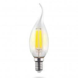 Лампа светодиодная филаментная E14 9W 4000К прозрачная VG10-CW1E14cold9W-F 7095