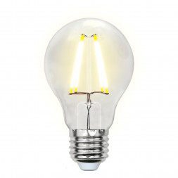 Лампа светодиодная филаментная (UL-00002212) E27 8W 4000K прозрачная LED-A60-8W/NW/E27/CL GLA01TR