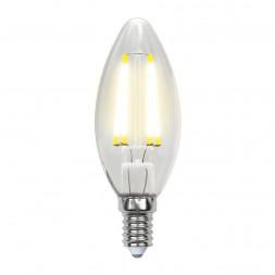 Лампа светодиодная филаментная (UL-00003247) E14 7,5W 4000K прозрачная LED-C35-7,5W/NW/E14/CL GLA01T