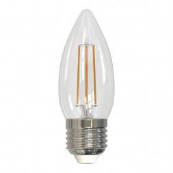 Лампа светодиодная филаментная диммируемая (UL-00003642) E27 5W 4000K прозрачная LED-C35-5W/NW/E27/C