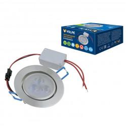 Встраиваемый светодиодный светильник (UL-00003244) Volpe ULM-Q262 3W/DW IP65 SILVER