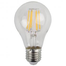 Лампа светодиодная филаментная ЭРА E27 7W 4000K прозрачная F-LED A60-7W-840-E27