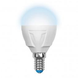 Лампа светодиодная (UL-00000692) E14 6W 4500K матовая LED-G45-6W/NW/E14/FR/DIM PLP01WH