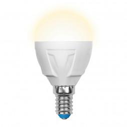 Лампа светодиодная (UL-00000694) E14 6W 3000K матовая LED-G45-6W/WW/E14/FR/DIM PLP01WH