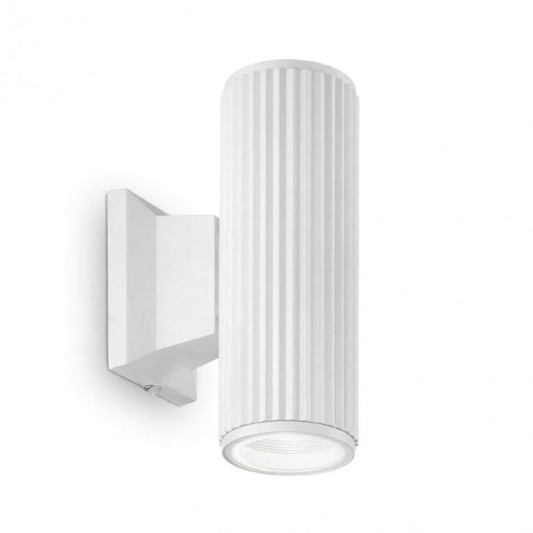 Уличный настенный светильник Ideal Lux Base AP2 Bianco