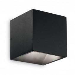 Уличный настенный светодиодный светильник Ideal Lux Rubik AP1 Nero