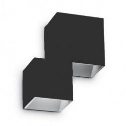 Уличный настенный светодиодный светильник Ideal Lux Rubik AP2 Nero