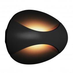 Настенный светодиодный светильник iLedex Flux ZD7151-6W BK Black+Gold