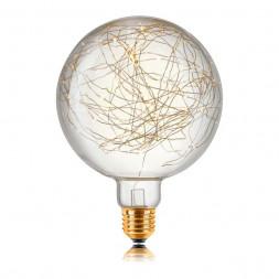 Лампа светодиодная филаментная E27 5W 2700K прозрачная 057172