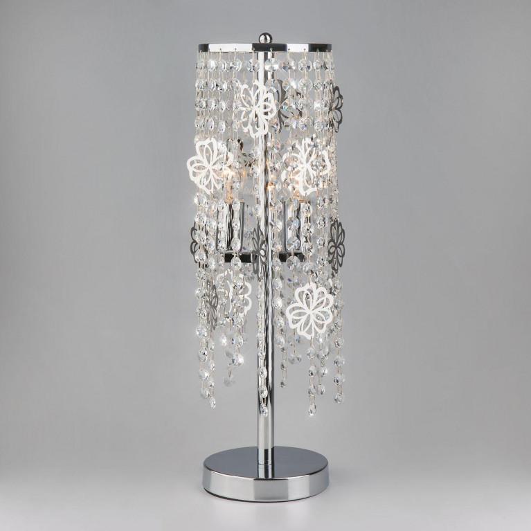 Настольная лампа Eurosvet 01035/2 хром/прозрачный хрусталь Strotskis