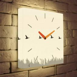 Световые часы Птицы LB-003-35
