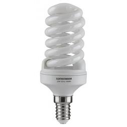 Лампа энергосберегающая E14 15W 2700К матовая 4607138140521