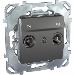 Розетка TV/FM проходная Schneider Electric Unica MGU5.453.12ZD