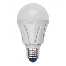Лампа светодиодная (UL-00001526) E27 12W 3000K матовая LED-A60 12W/WW/E27/FR PLP01WH