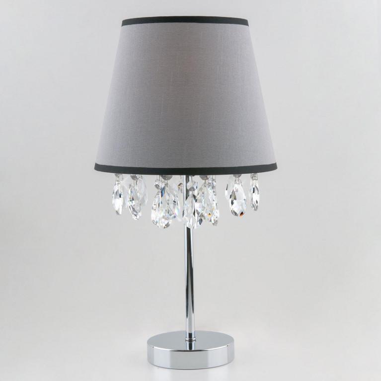 Настольная лампа Eurosvet 01036/1 хром/прозрачный хрусталь Strotskis