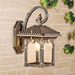 Уличный настенный светильник Elektrostandard Corvus D черное золото GL 1021D 4690389138188