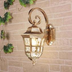 Уличный настенный светильник Elektrostandard Dorado D черное золото GL 1013D 4690389135248