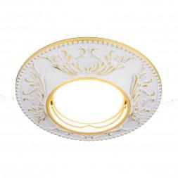 Встраиваемый светильник Elektrostandard 7217 MR16 WHG белый/золото 4690389055942