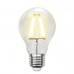 Лампа светодиодная (UL-00002210) E27 8W 3000K прозрачная LED-A60-8W/WW/E27/CL GLA01TR