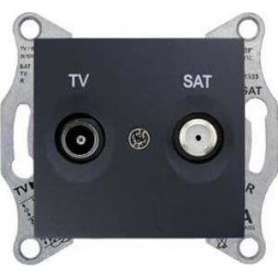 Розетка TV/SAT оконечная Schneider Electric Sedna 1dB SDN3401670