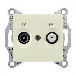 Розетка TV/SAT проходная Schneider Electric Sedna 8dB SDN3401247