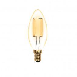 Лампа светодиодная (UL-00002396) E14 5W 2250K прозрачная LED-C35-5W/GOLDEN/E14 GLV21GO