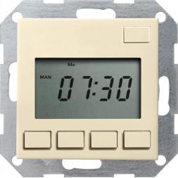 Таймер электронный Easy Gira System 55 кремовый глянцевый 117501