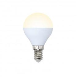 Лампа светодиодная (UL-00003826) E14 9W 3000K матовая LED-G45-9W/WW/E14/FR/NR