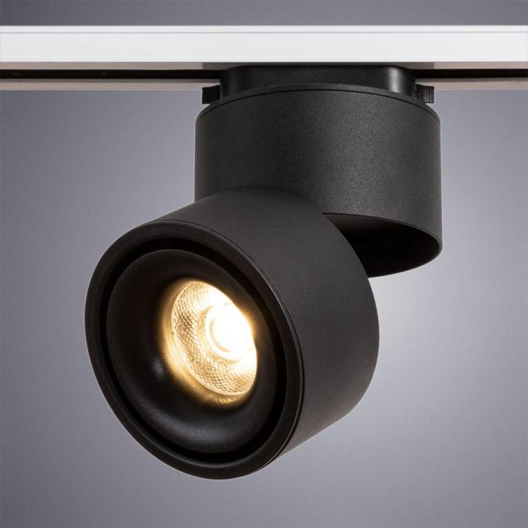 Трековый светодиодный светильник Arte Lamp Arcturus A7716PL-1BK