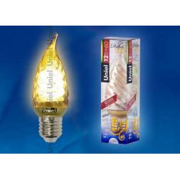 Лампа энергосберегающая (03864) E27 12W Gold витая золотая ESL-C21-TW12/GOLD/E27
