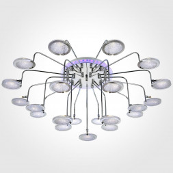 Потолочный светильник Eurosvet 80109/21 хром/синий+фиолетовый