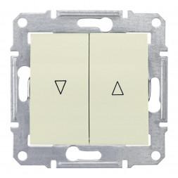 Выключатель для жалюзи злектрическая блокировка Schneider Electric Sedna SDN1300147