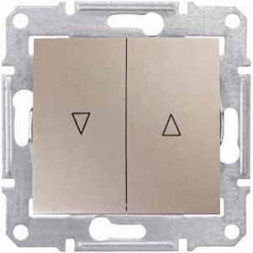 Выключатель для жалюзи злектрическая блокировка Schneider Electric Sedna SDN1300168