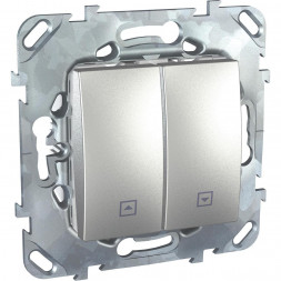Выключатель двухклавишный для жалюзи без фиксации Schneider Electric Unica MGU5.207.30ZD