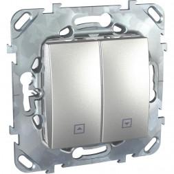 Выключатель двухклавишный для жалюзи с фиксацией Schneider Electric Unica MGU5.208.30ZD