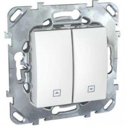 Выключатель двухклавишный для жалюзи Schneider Electric Unica MGU5.208.18ZD