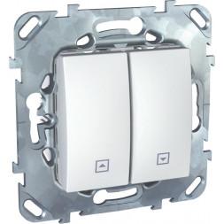 Выключатель двухклавишный кнопочный для жалюзи Schneider Electric Unica MGU5.207.18ZD