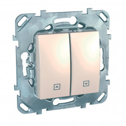 Выключатель двухклавишный кнопочный для жалюзи Schneider Electric Unica MGU5.207.25ZD