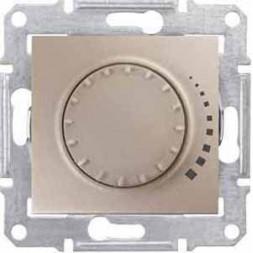 Диммер поворотный емкостный проходной Schneider Electric Sedna 60-500W SDN2200568