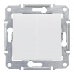 Выключатель двухклавишный Schneider Electric Sedna 10A 250V SDN0300121